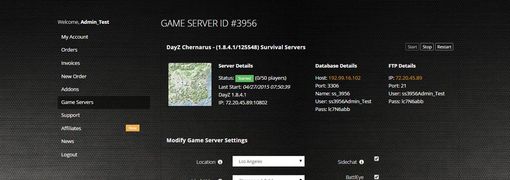 Hosting server ark pc