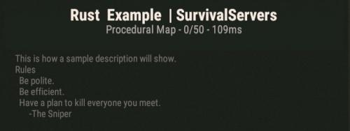 Rust Server Settings - Survival Servers